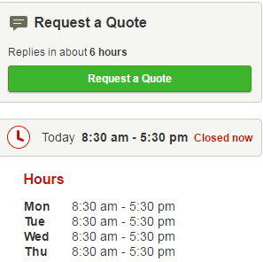 Yelp's Request a Quote Button