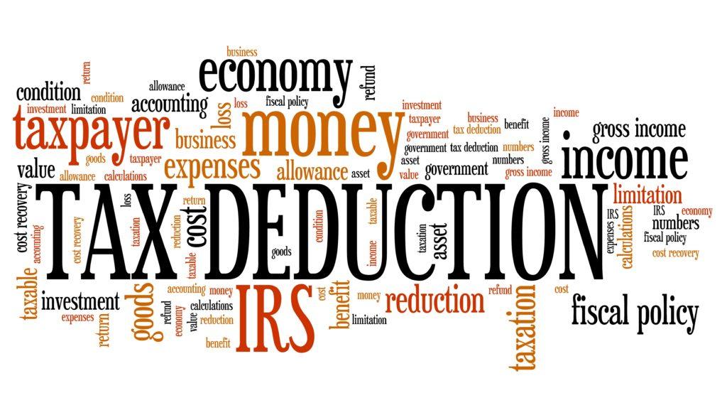 Tax deduction - word cloud concept