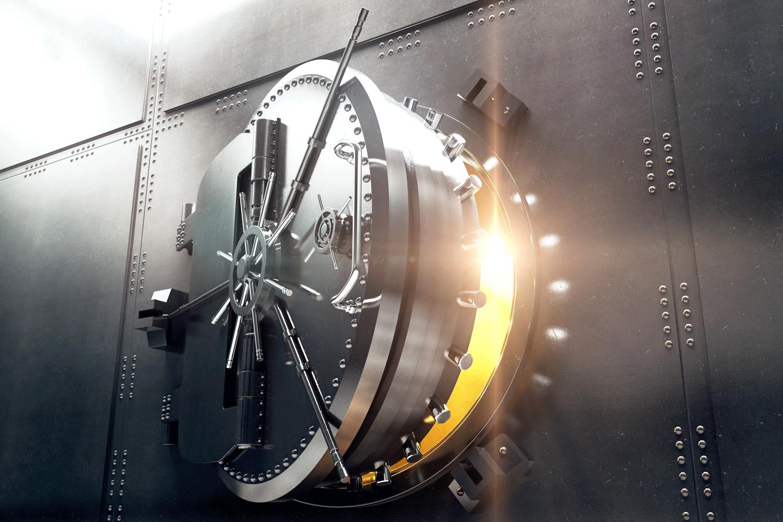 Secure safe portal