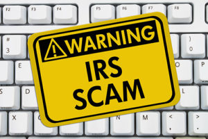 Tax Collection Scam warning poster